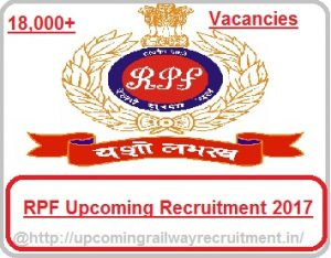 RPF Recruitment 2017-18| Upcoming RPF/ RPSF 18,000+ Constable Posts Vacancies, rpsf recruitment 2017, rpf jobs 2017, railway constable jobs 2017, railway protection force, railway protection special force, railway jobs 2017